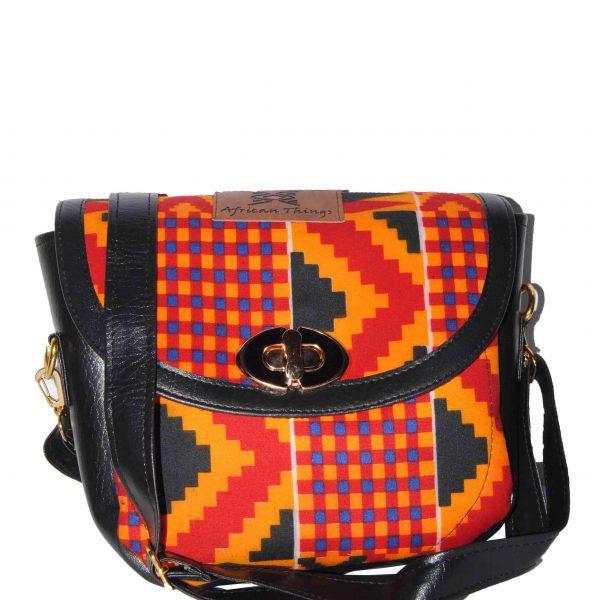 African Things Orange Kente Amar Hand bag