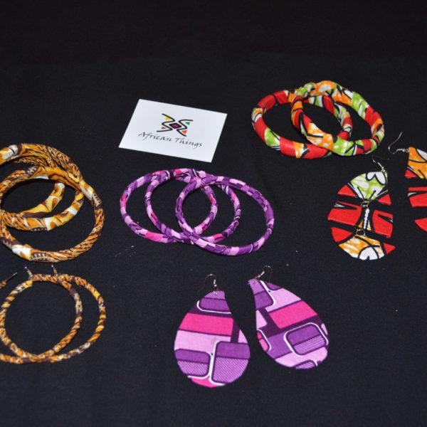 Ankara Earring and Bangle