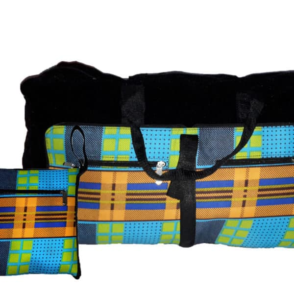 African things collapsible bag small and open