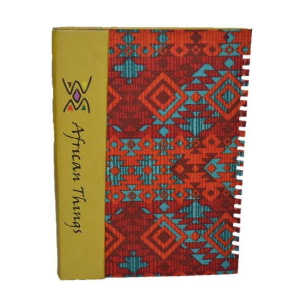 African Things Red Ankara Flap Notebooks