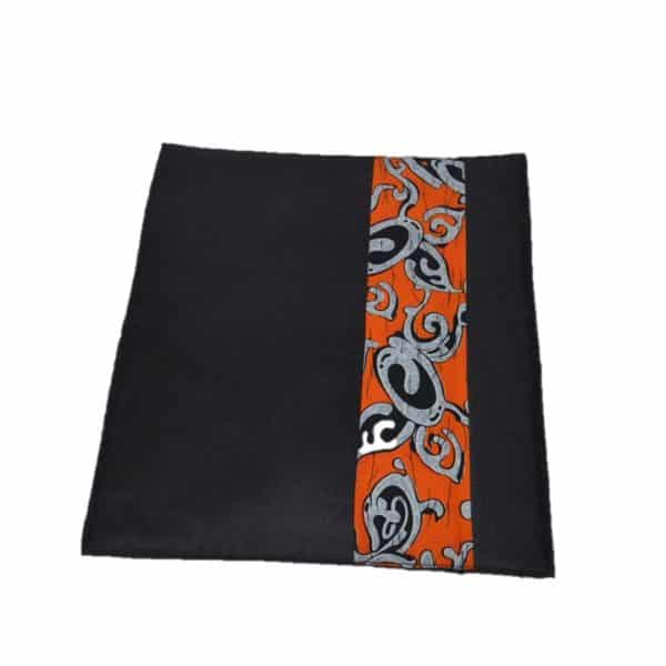 African Things Orange and black Table mat