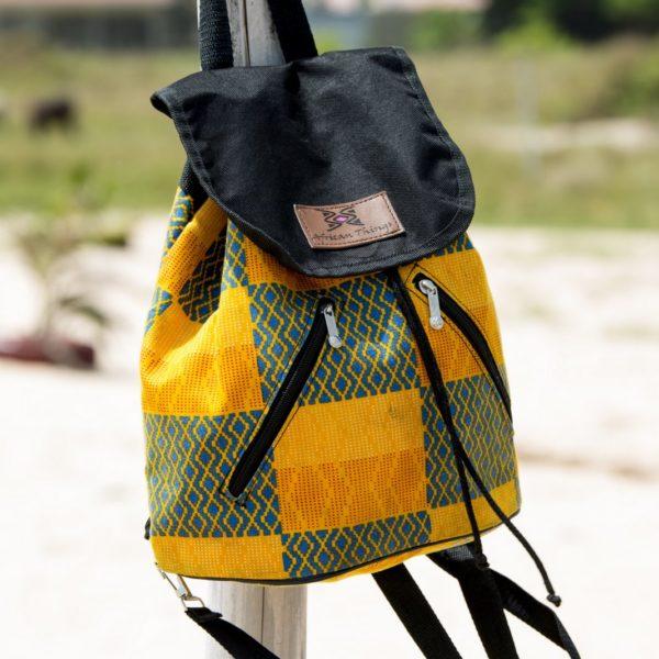 Yellow Kente Ada backpack