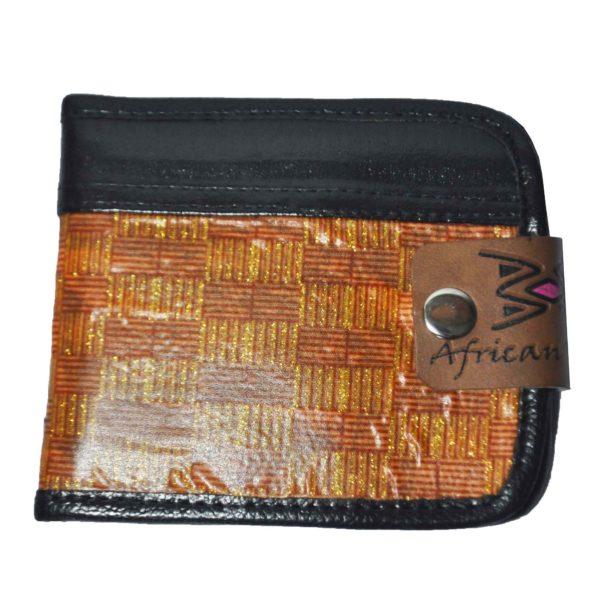African Things Brown Ankara Wallet
