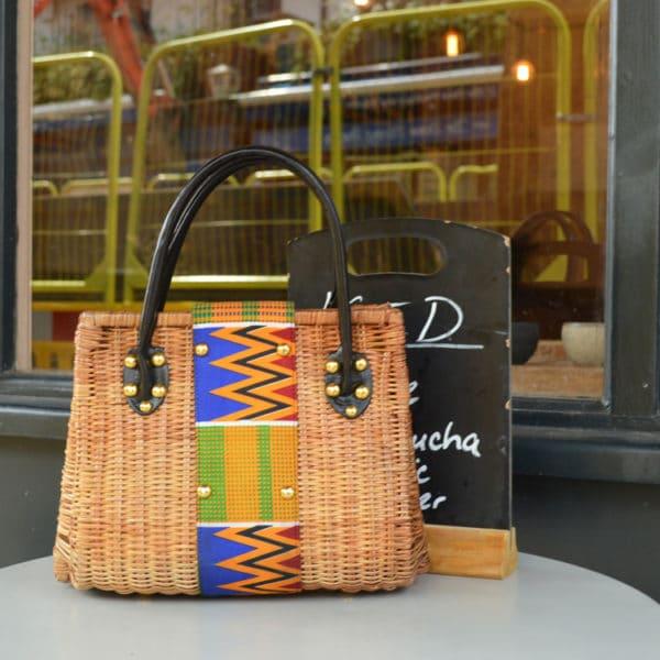 African Things Kiki Ankara Basket handbag