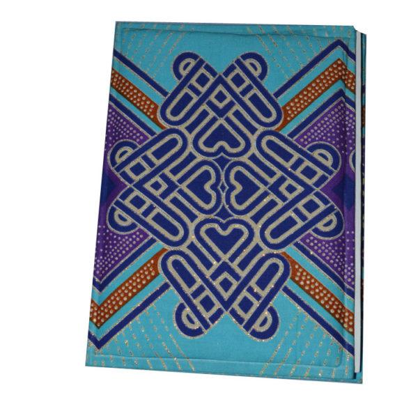 African Things Blue Ankara Notebooks