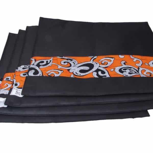 African Things Orange Kente Table Mat set