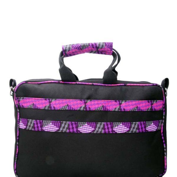 African Things Purple Ankara laptop bag
