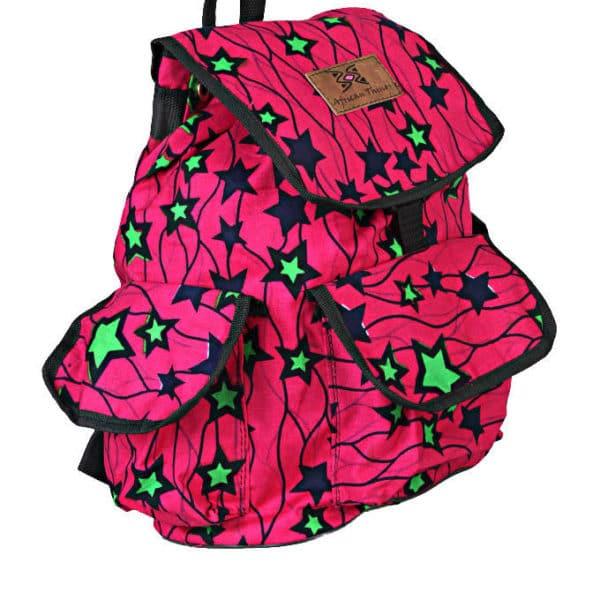 African Things, Pink Star Ankara, Sisi Backpack