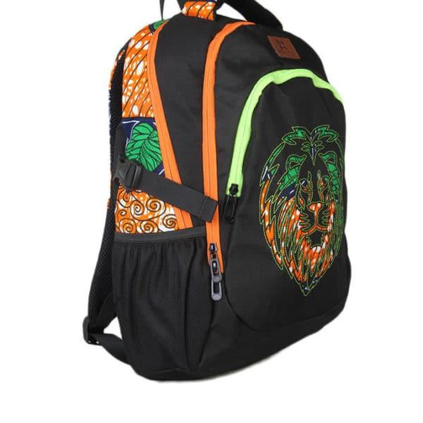 African Things Oju Series Green Ankara Laptop Backpack