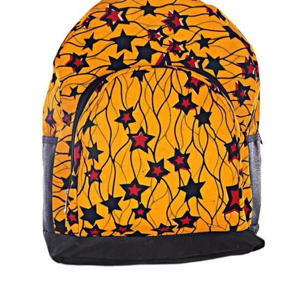 Yellow Star Ankara Backpack