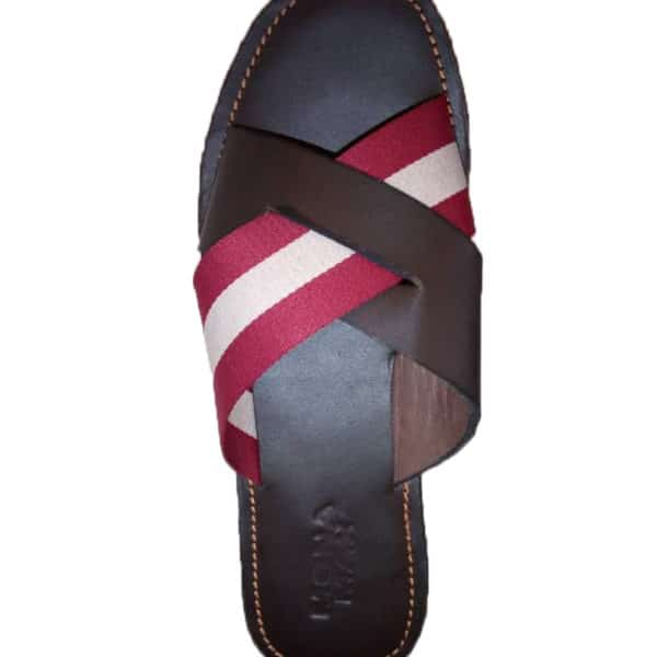 X slipper with leather