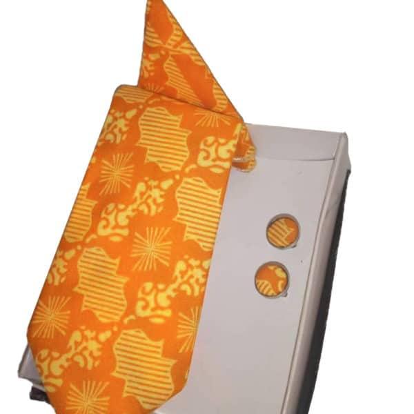 Ankara african print neck tie and cufflinks