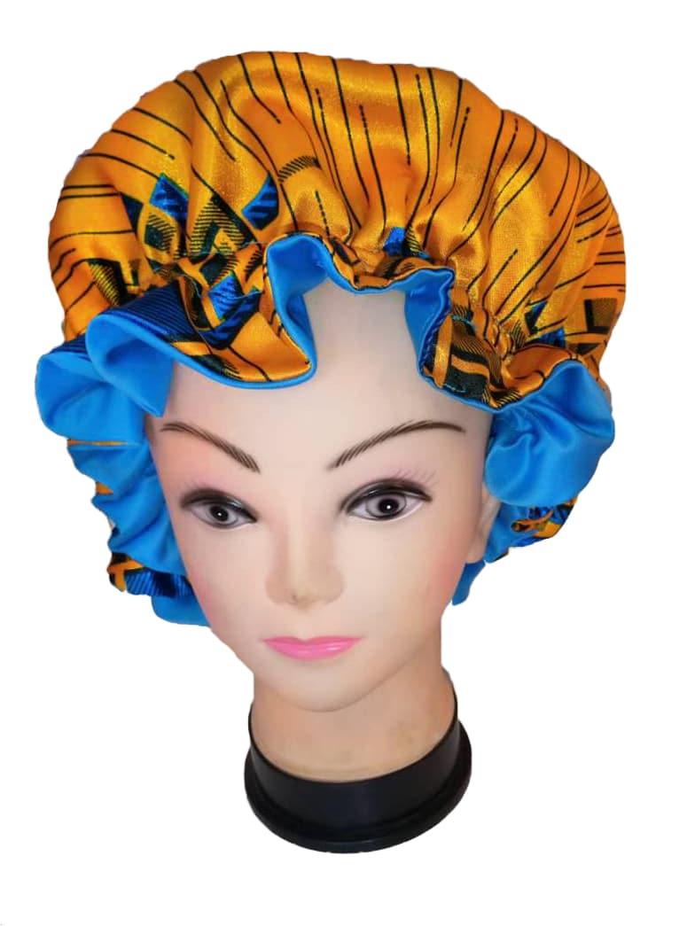 Ankara satin hair bonnet