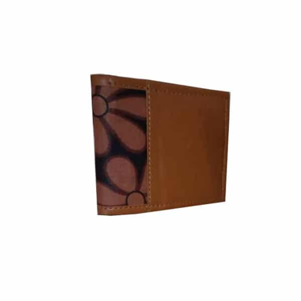 Brown ankara and Leather male wallet