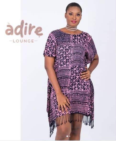 Adire lounge fringe dress