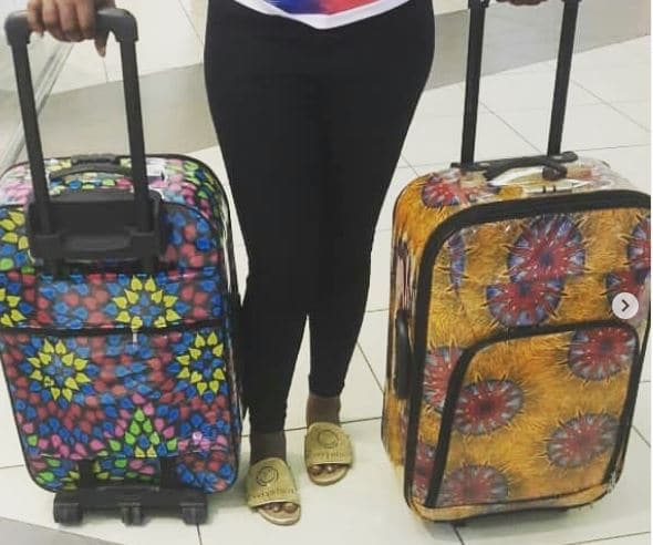African print suitcase