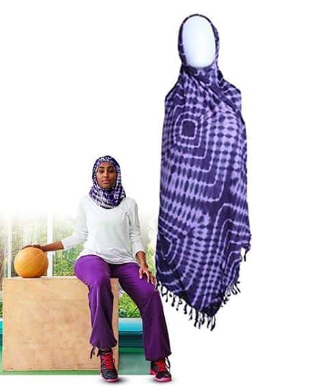 Adire lounge large blue scarf