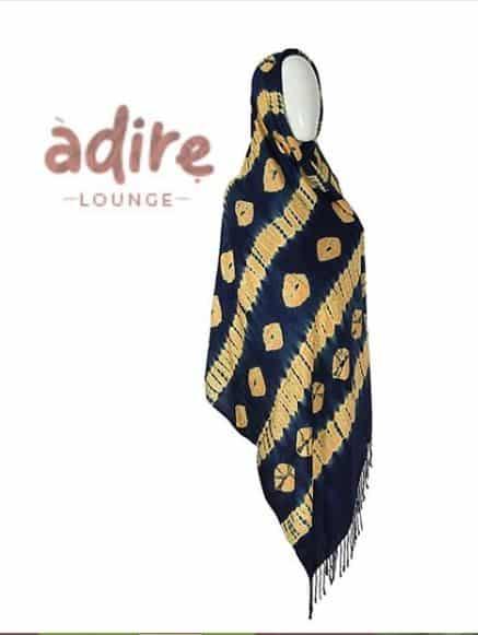 Adire lounge large scarf
