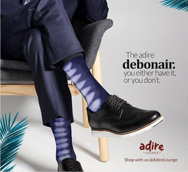 Adire lounge socks