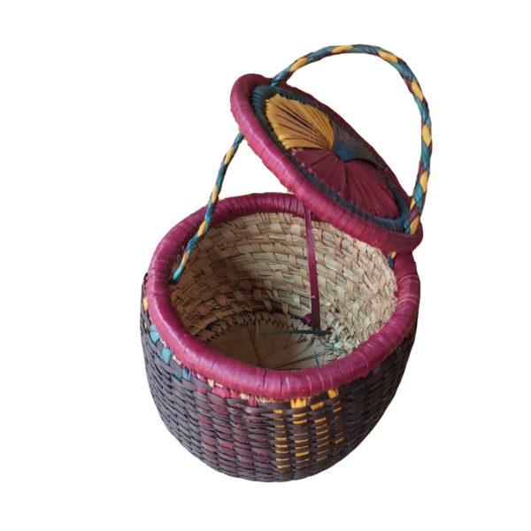 Handmade basket storage